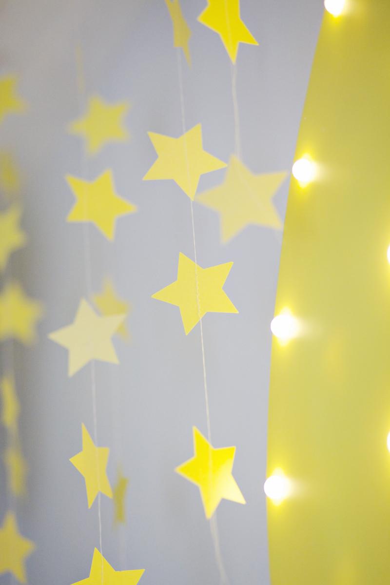 DIY star garland