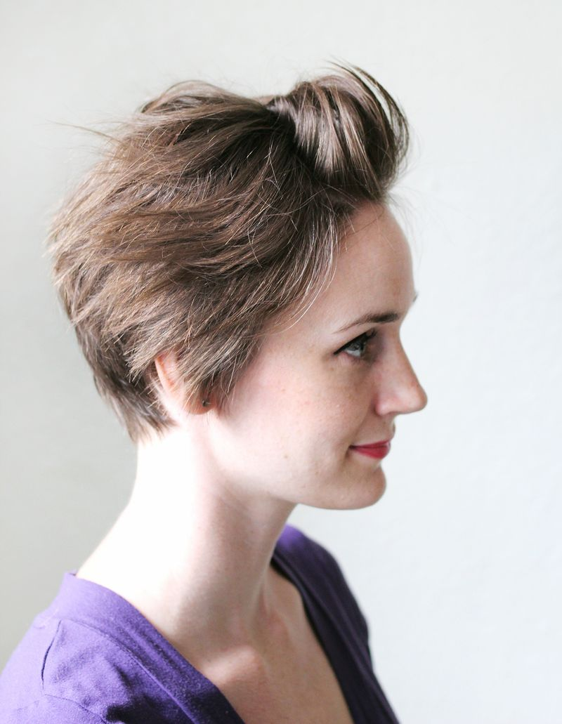 3 ways to style a pixie cut a beautiful mess 3 ways to style a pixie cut urmus Image collections