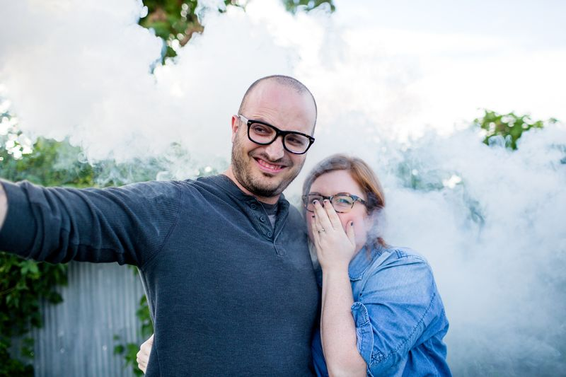 Smoke bombs can be really smelly