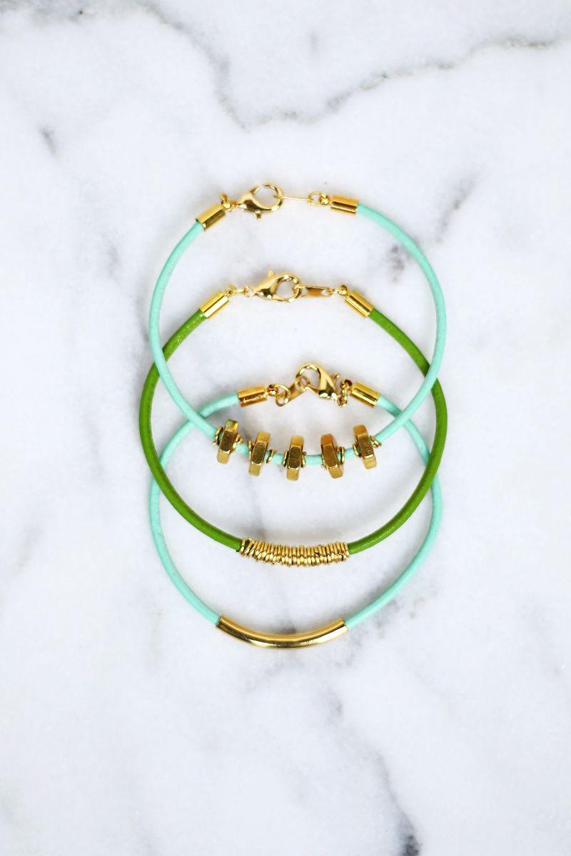 Bracelet en cuir Facile bricolage fait 3 Façons DIFFERENTES!  (Cliquer pour tutoriel)
