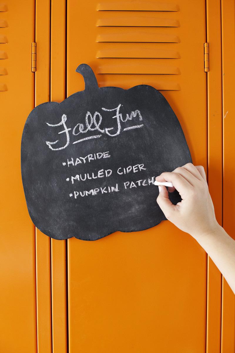 Pumpkin Chalkboard (Plus a Printable Template!) - A Beautiful Mess