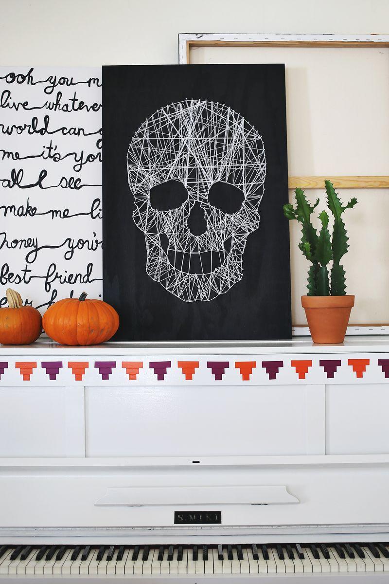 Make your own skull string art