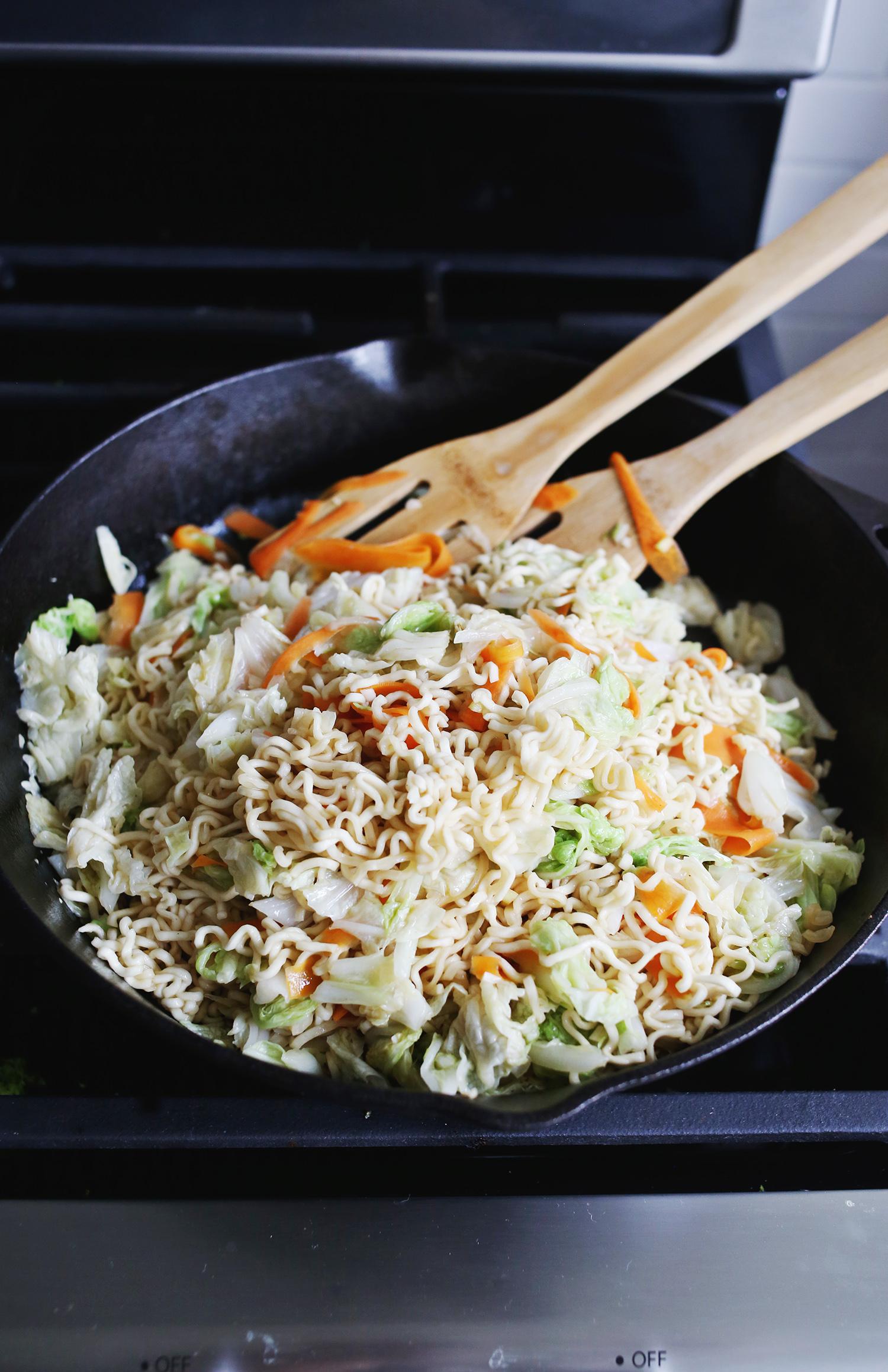 Cabbage stir fry dinner