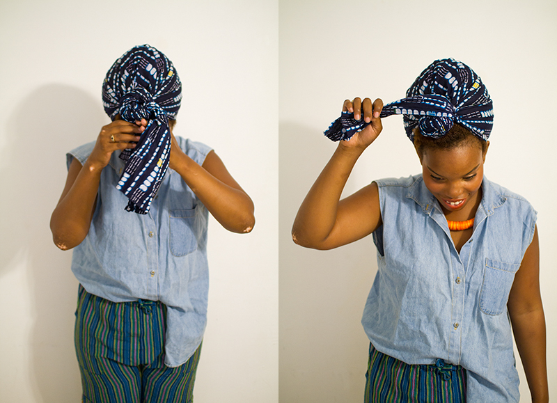 how to put your hair in a wrap