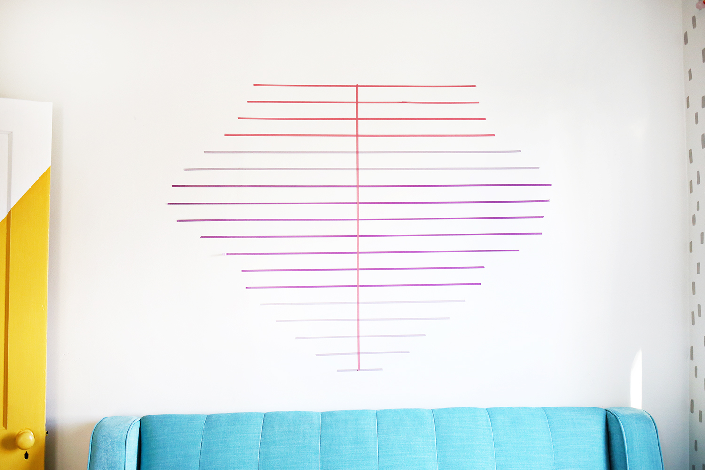 Diy washi tape wall decor