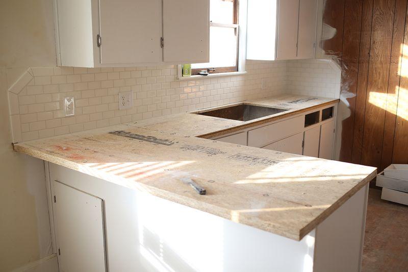 Kitchen counter progress