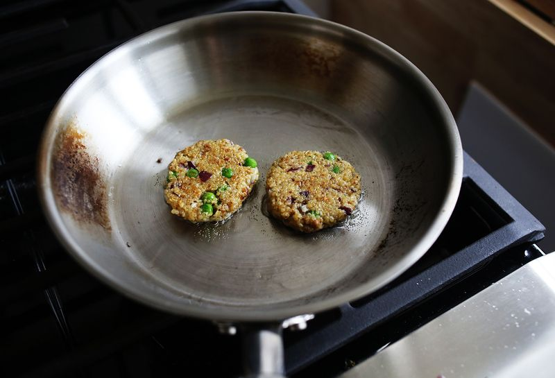 How to cook quinoa patties so they don't fall apart or stick