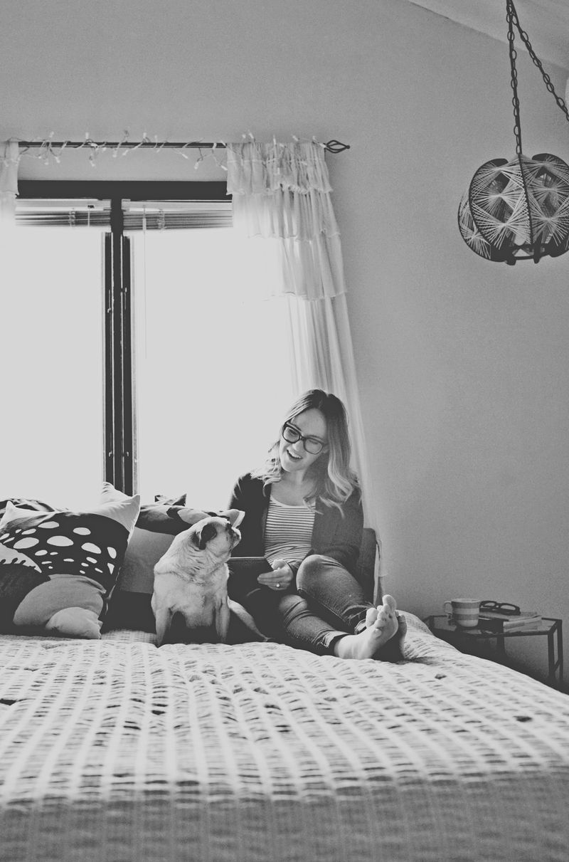 Emma Chapman at home