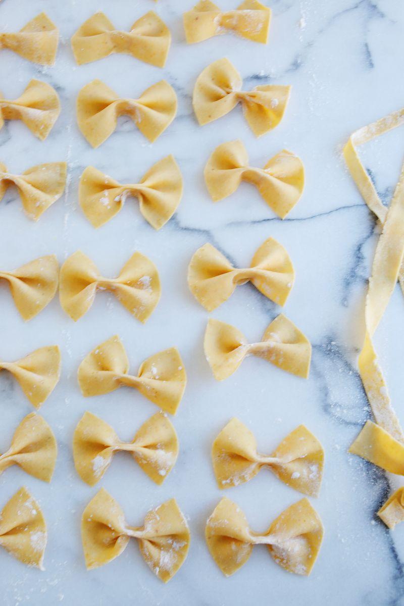 Bowtie pumpkin pasta (from abeautifulmess.com)