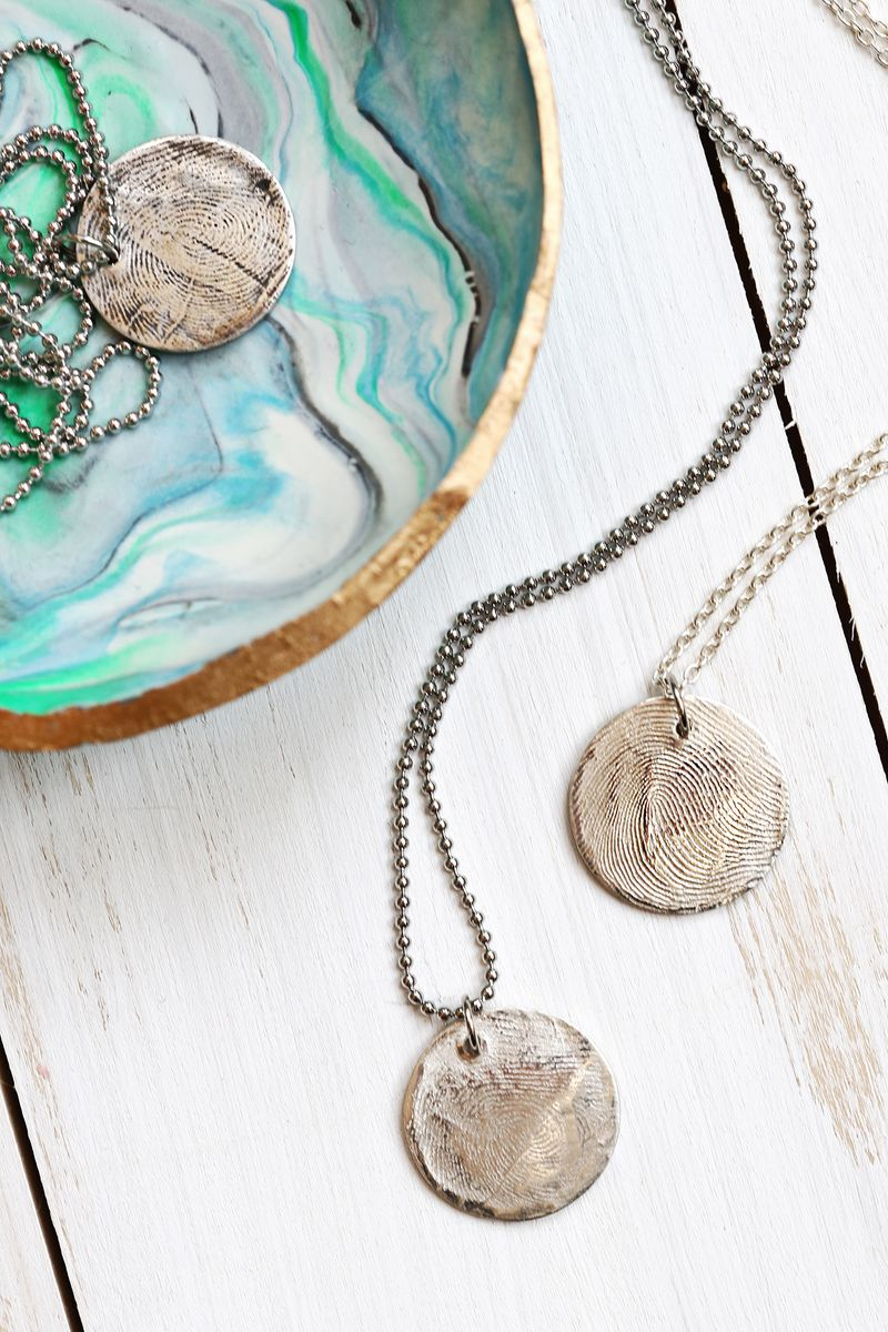 Make real silver jewelry with metal clay a beautiful mess have to do this use metal clay at home to make a pure silver fingerprint solutioingenieria Choice Image