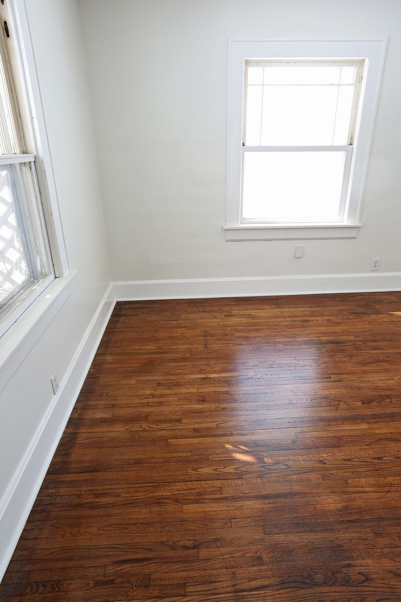 Refinishing old wood floors a beautiful mess for Resurfacing wood floors