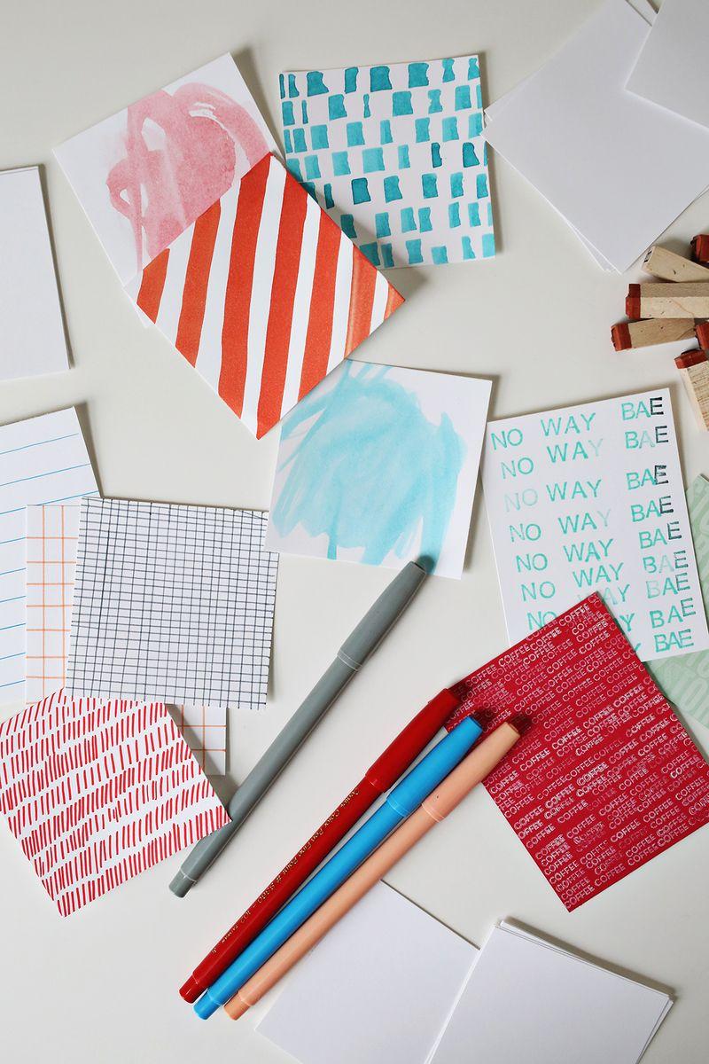 make a scrapebook  Scrapbook Sunday: How to Make Scrapbook Pocket Cards - A Beautiful Mess