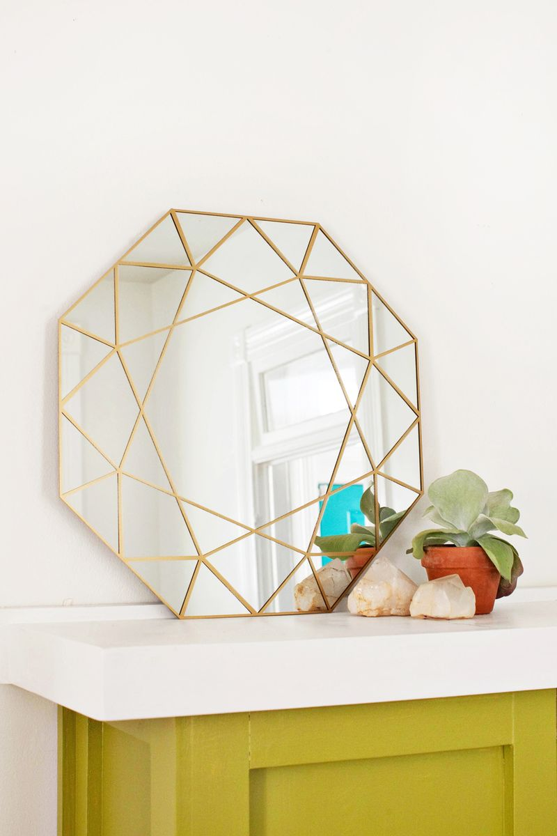 Gem Mirror Diy Easy Cutting Technique Through For Tutorial