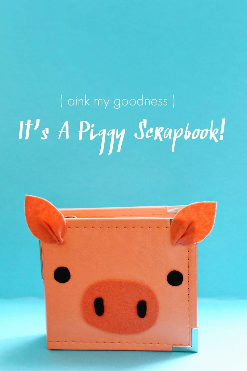 Piggy scrapbook
