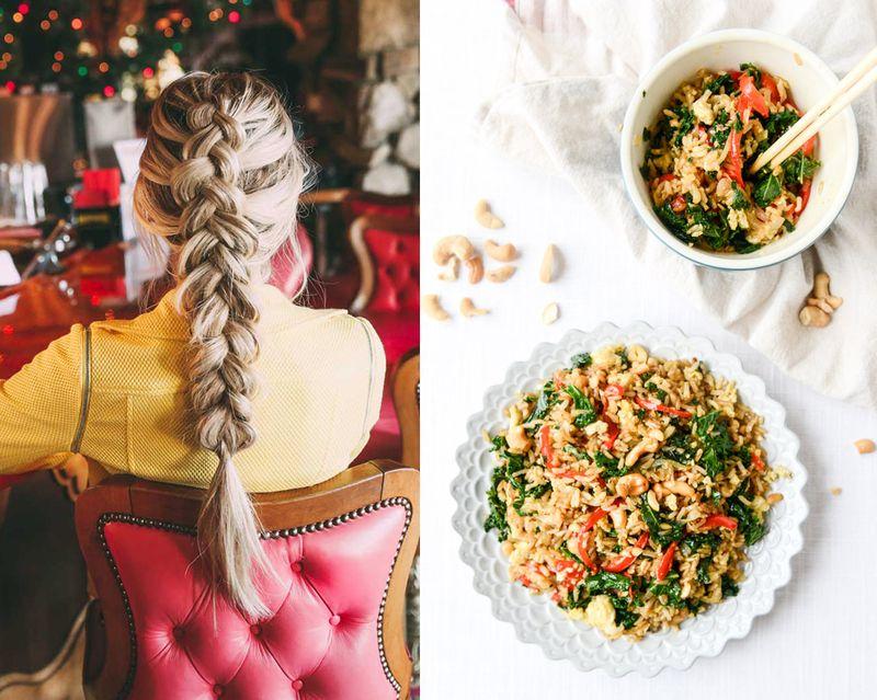 Favorit things; pretty hair and kale stir fry