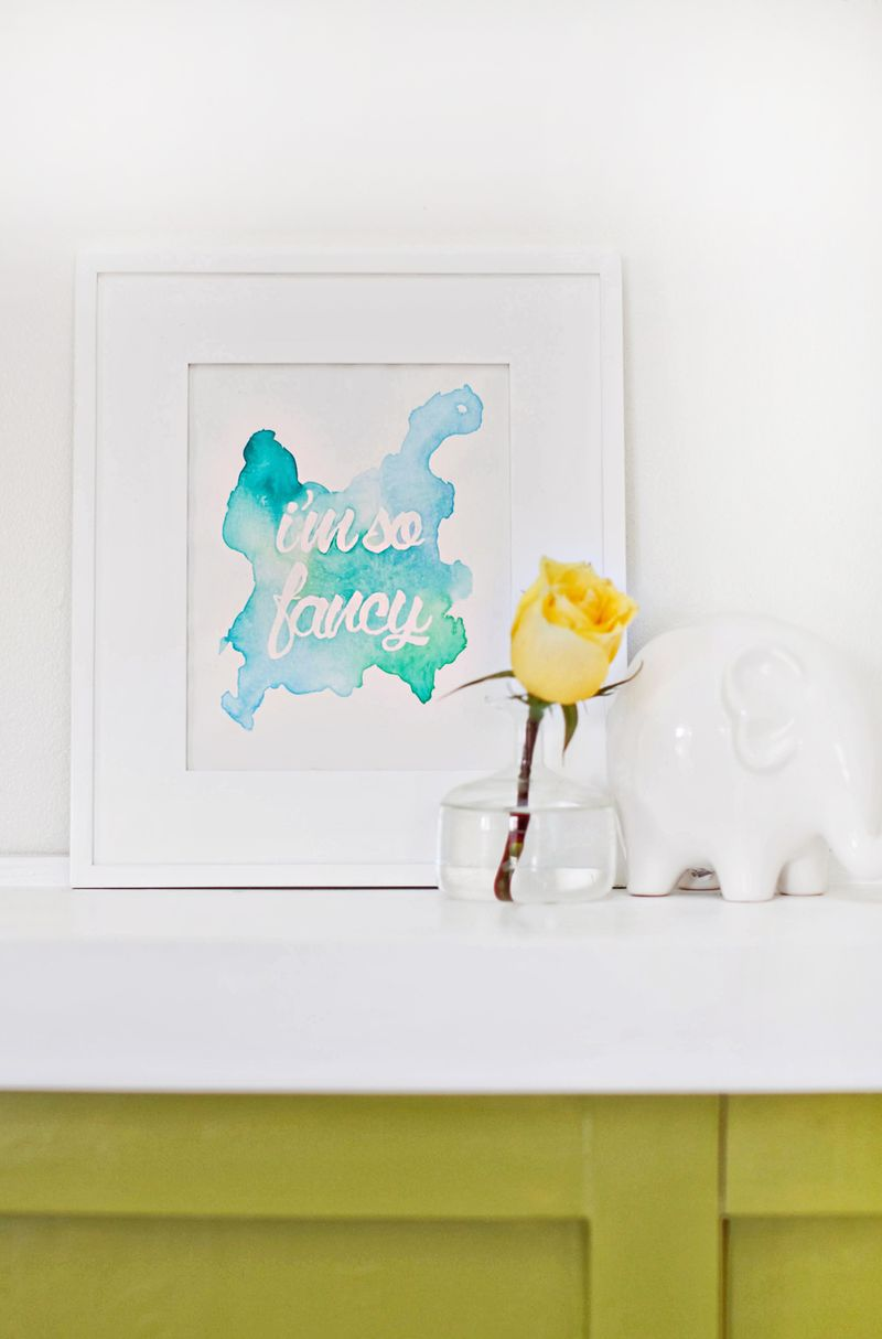 Watercolor phrase art diy a beautiful mess for Beautiful bedroom wall decor