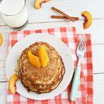Peaches + Ricotta Pancakes