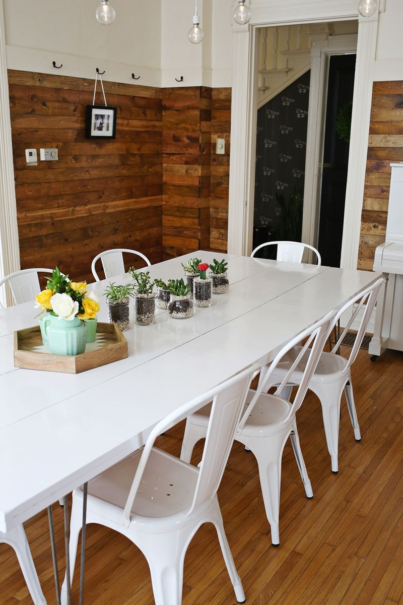 pictures of dining room tables | Tips for Painting a Dining Room Table - A Beautiful Mess