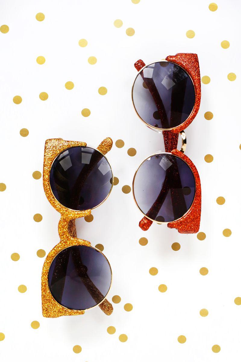 Make Your Own Glitter Sunglasses! - A Beautiful Mess
