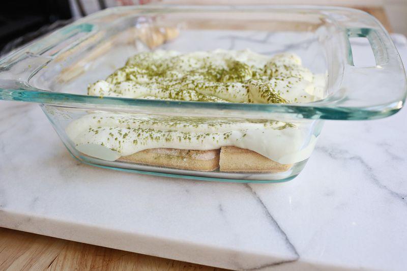 How to make green tea tiramisu