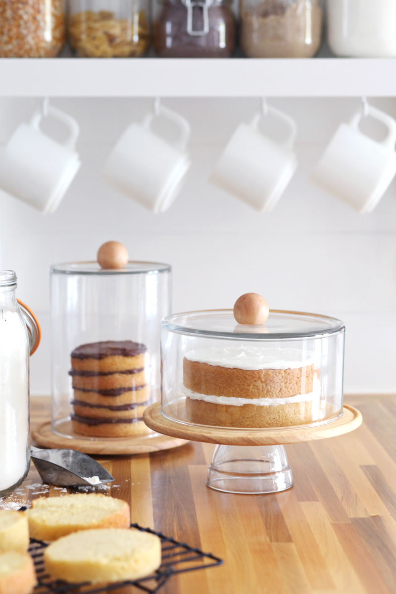 Colorful Cake Stand With Dome