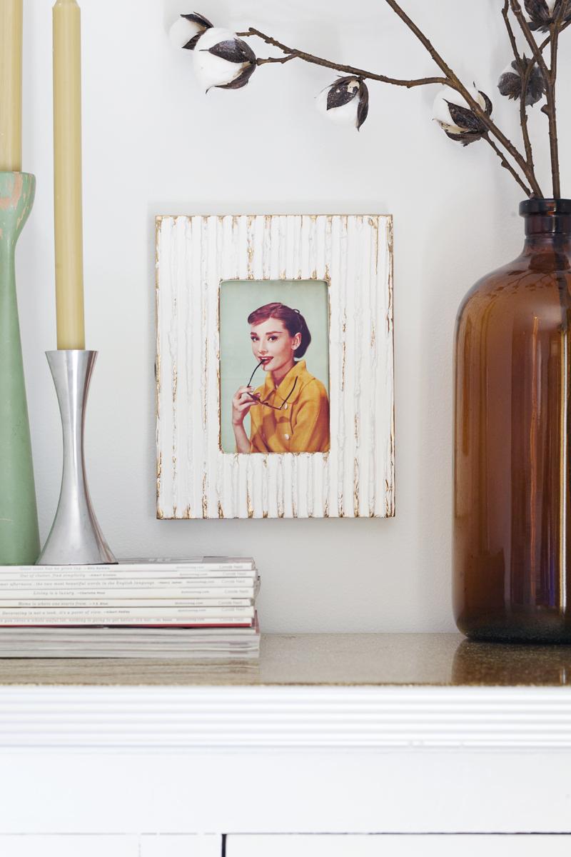Textured photo frame