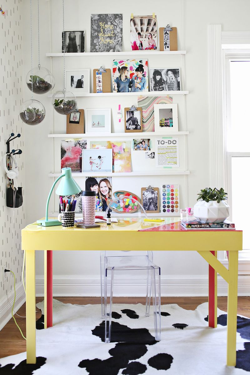 Elsie's Office www.abeautifulmess.com