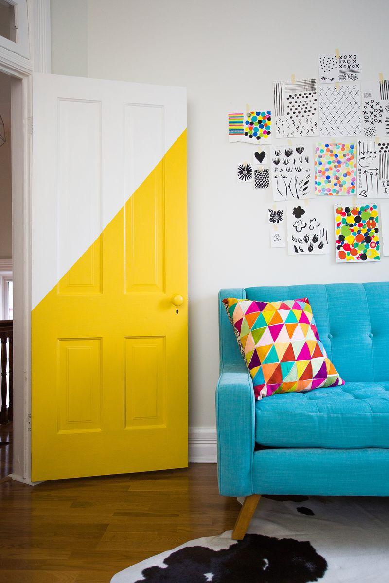 Half paint a door!