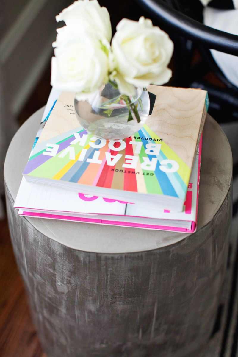 DIY cement side tables
