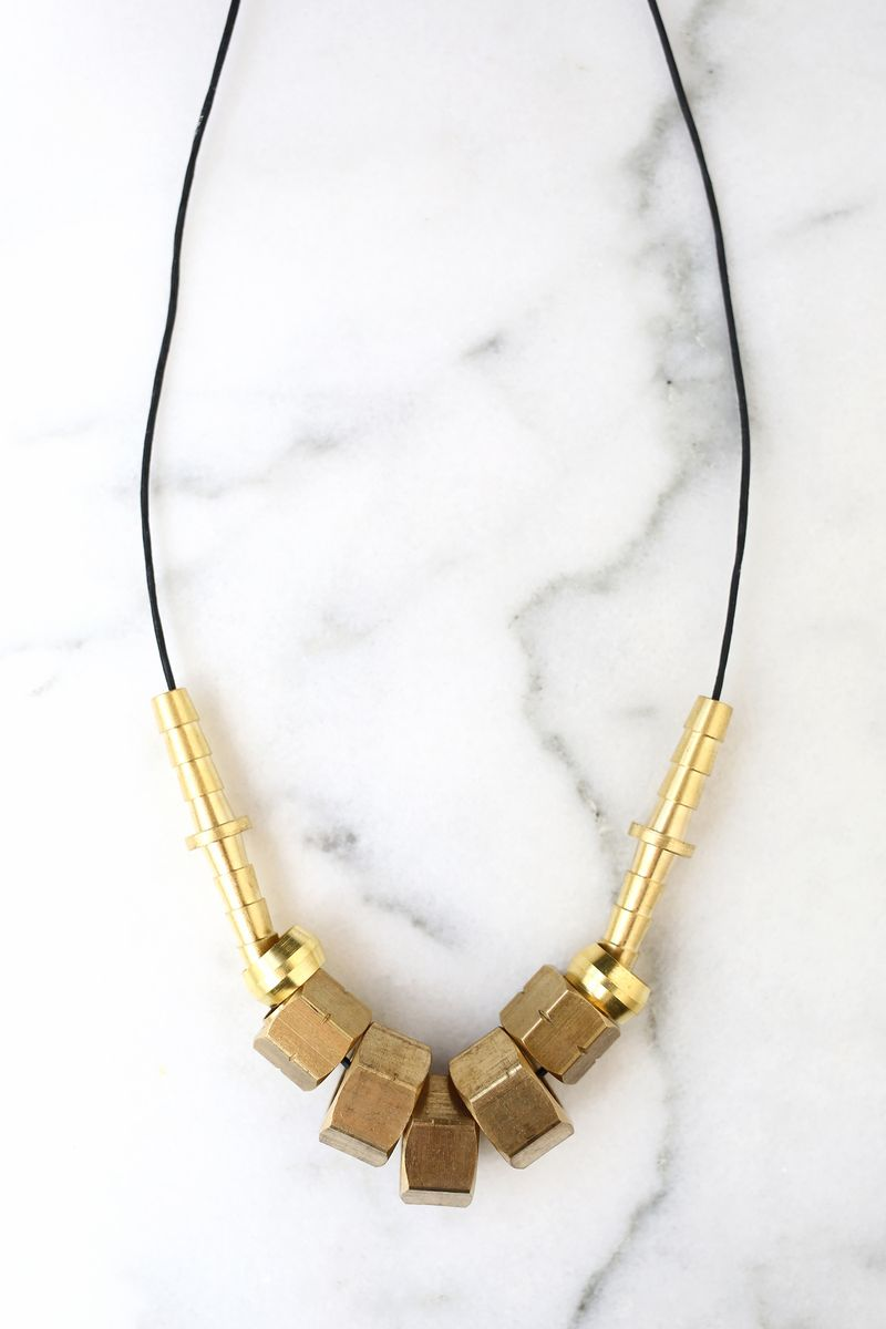 Have to make this! Jewelry with unique hardware store hardware (click through for more