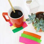 Colorblocked Clay Coasters