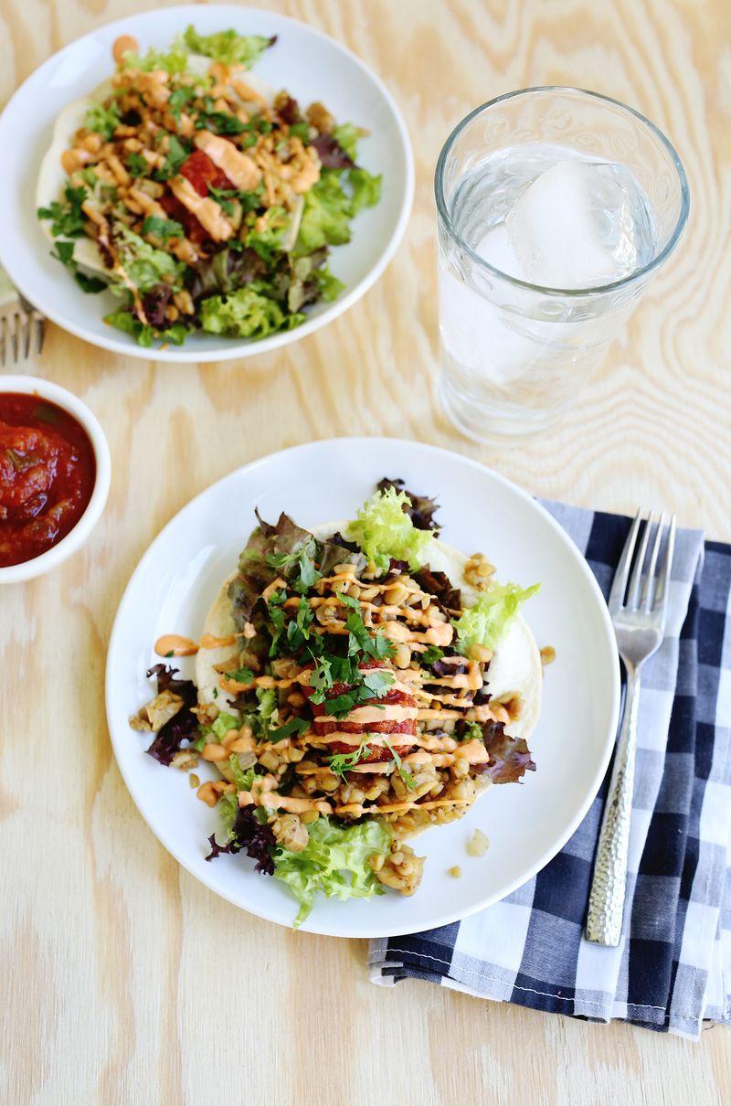 Tempeh Taco Salad (via abeautifulmess.com)