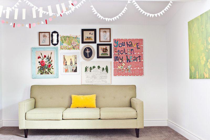 Cute gallery wall