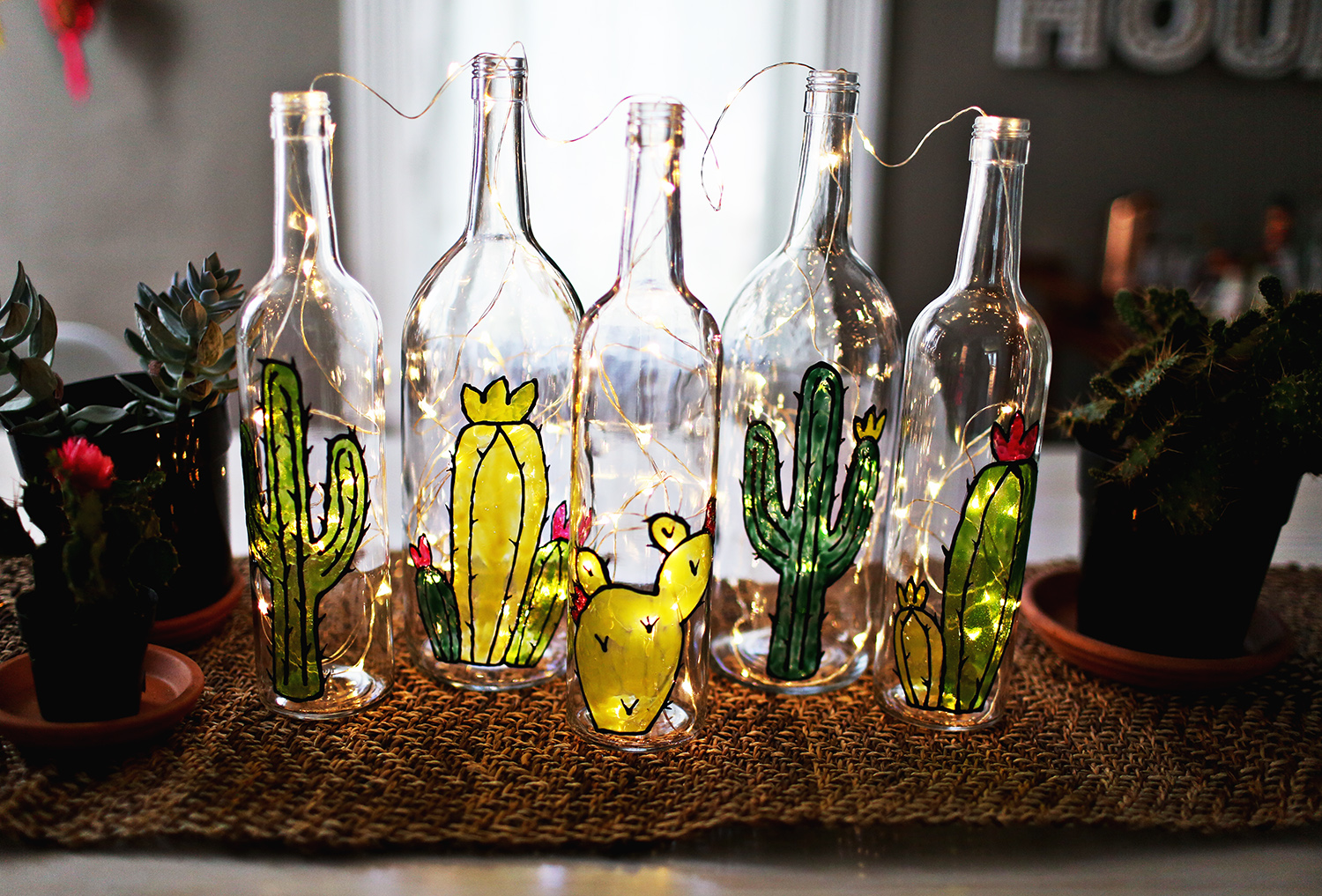 DIY Faux Stained Glass BottlesA Beautiful Mess