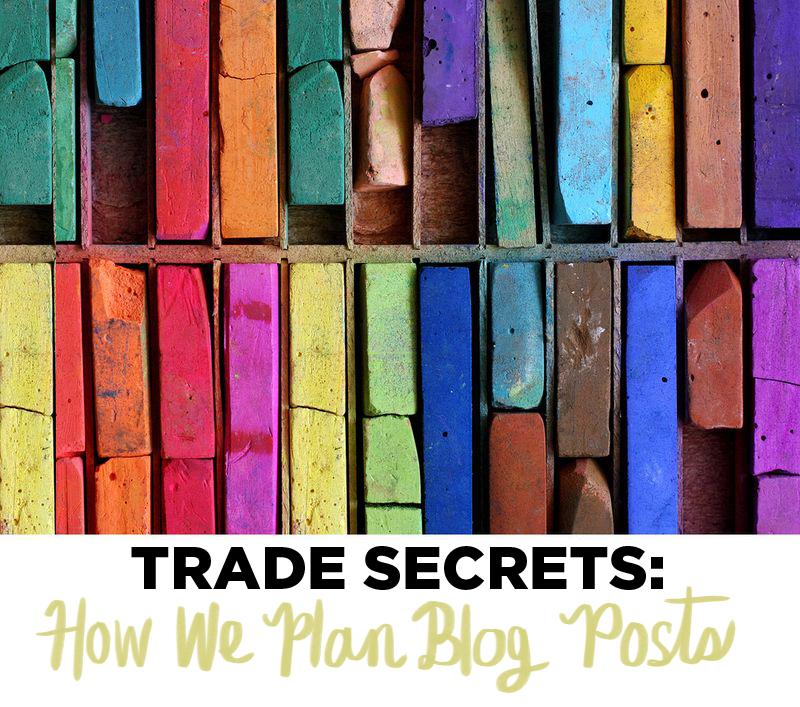 How we plan blog posts