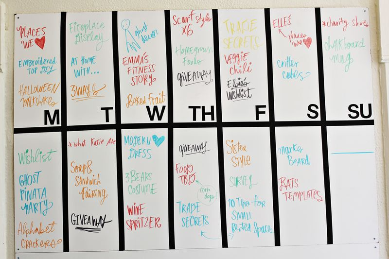 Blog planning marker board