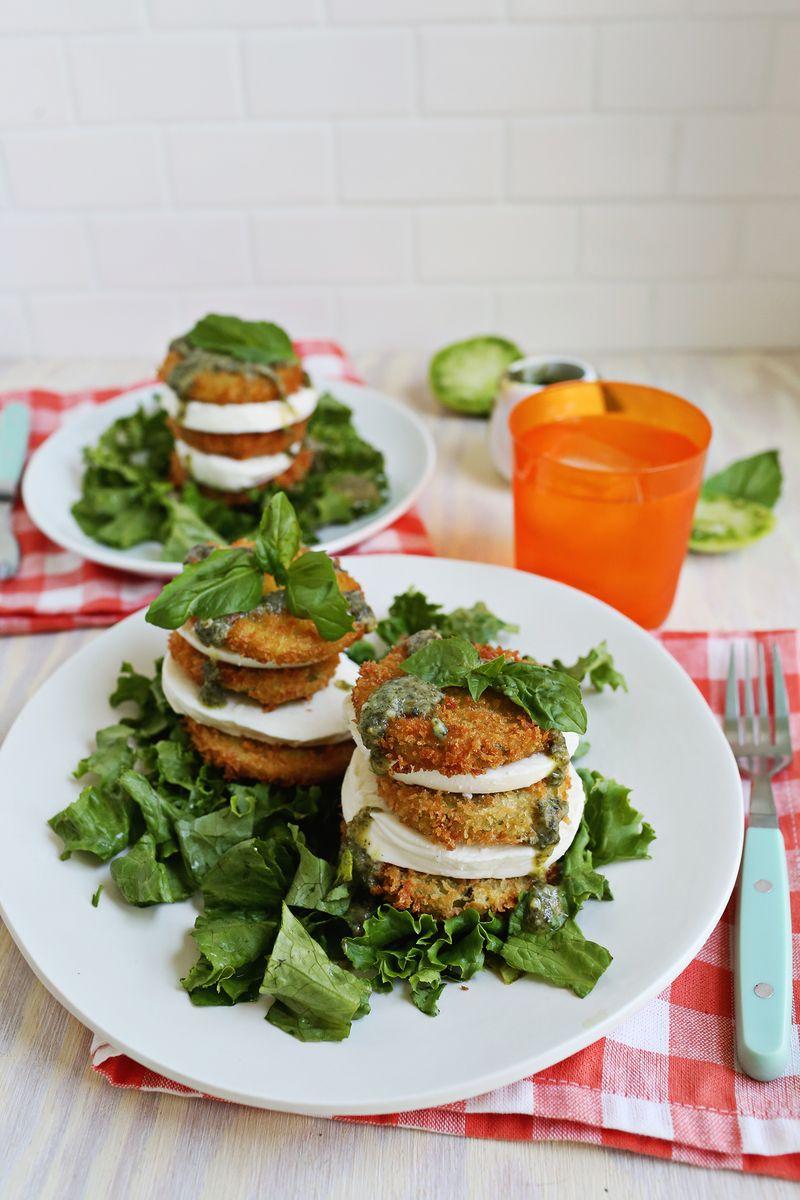 Fried Green Tomato Salad – A Beautiful Mess