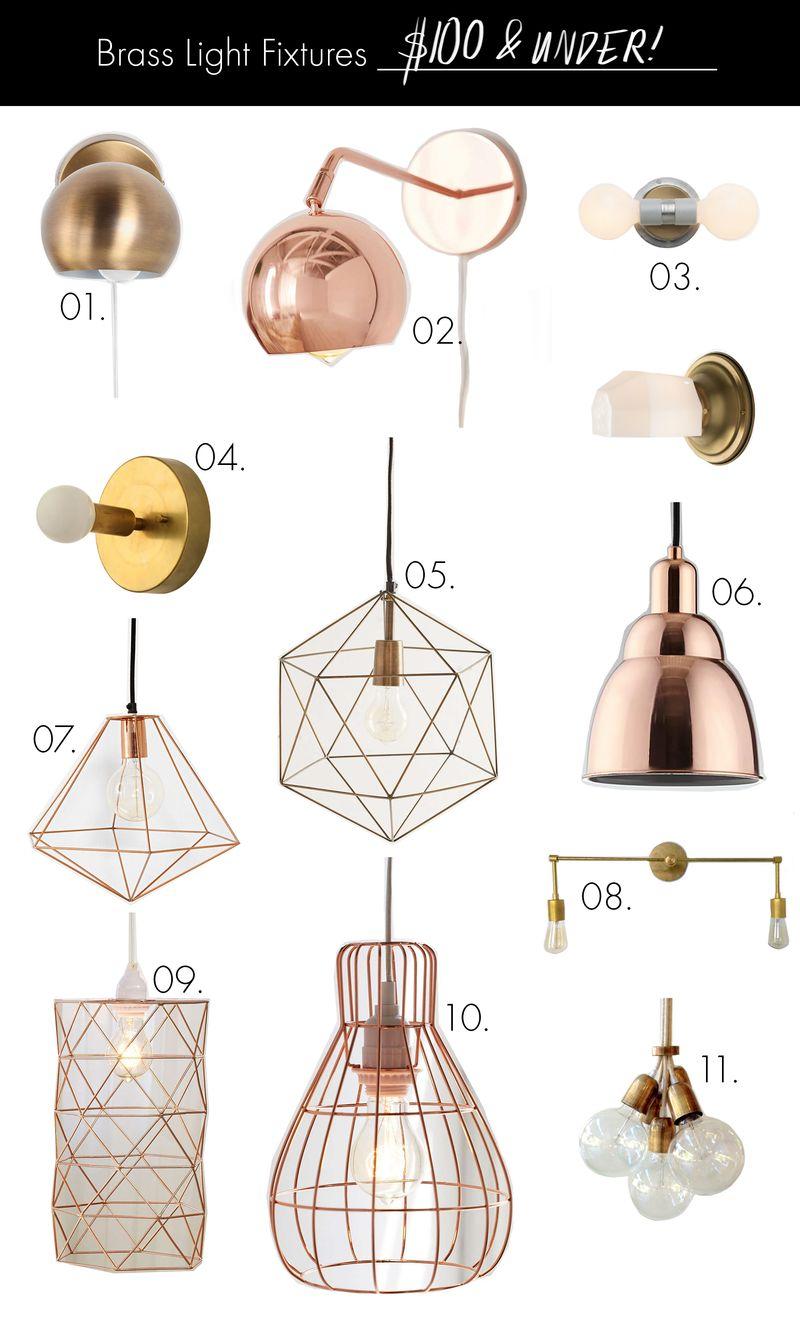 Brass Light Fixtures For Every Budget A Beautiful Mess