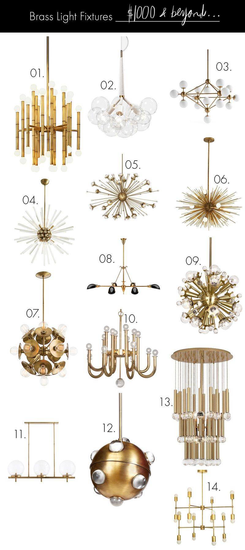 Brass Light Fixtures (on any budget!) $1000 and beyond