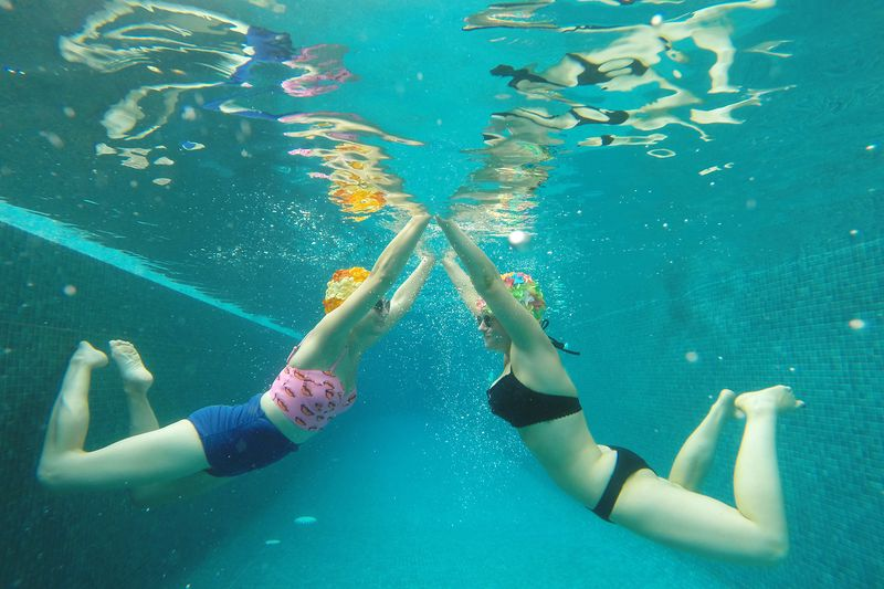 Using a go pro underwater