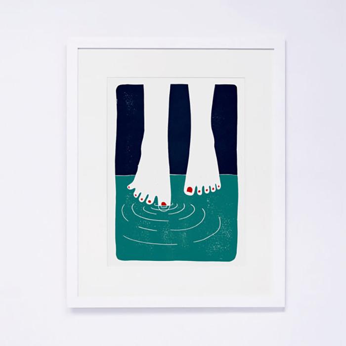 Feet art print 10 Things I Love