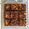 Marble Pumpkin Brownies - October 08, 2015