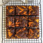 Marble Pumpkin Brownies
