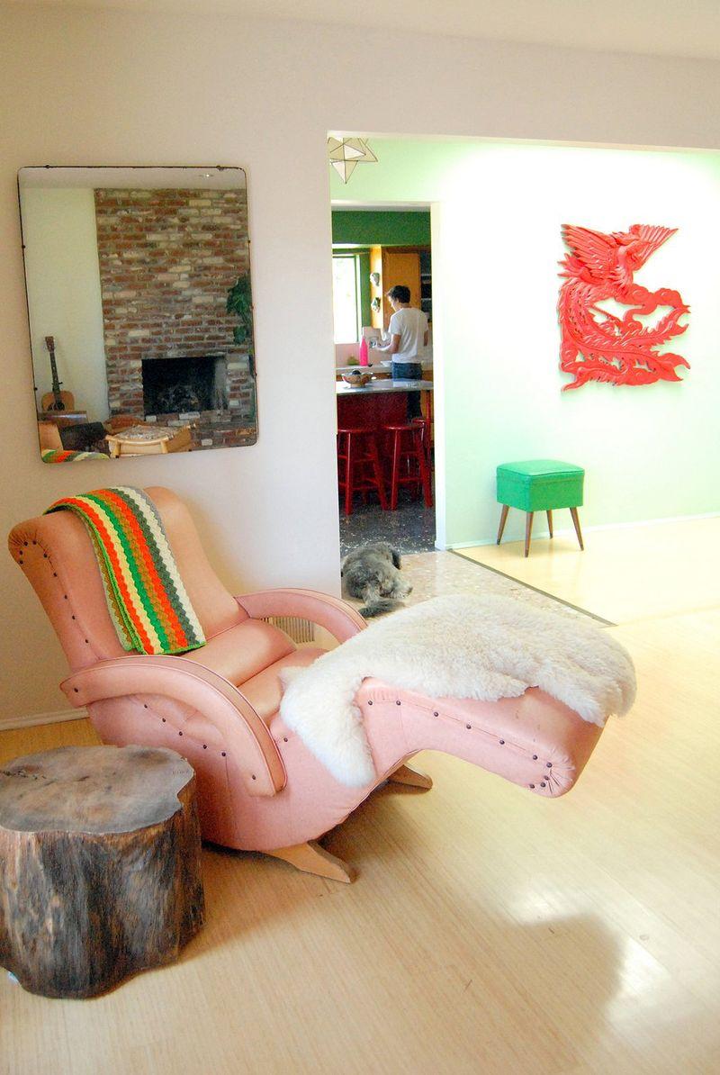 This chair! At Home with Kimi Encarnacion