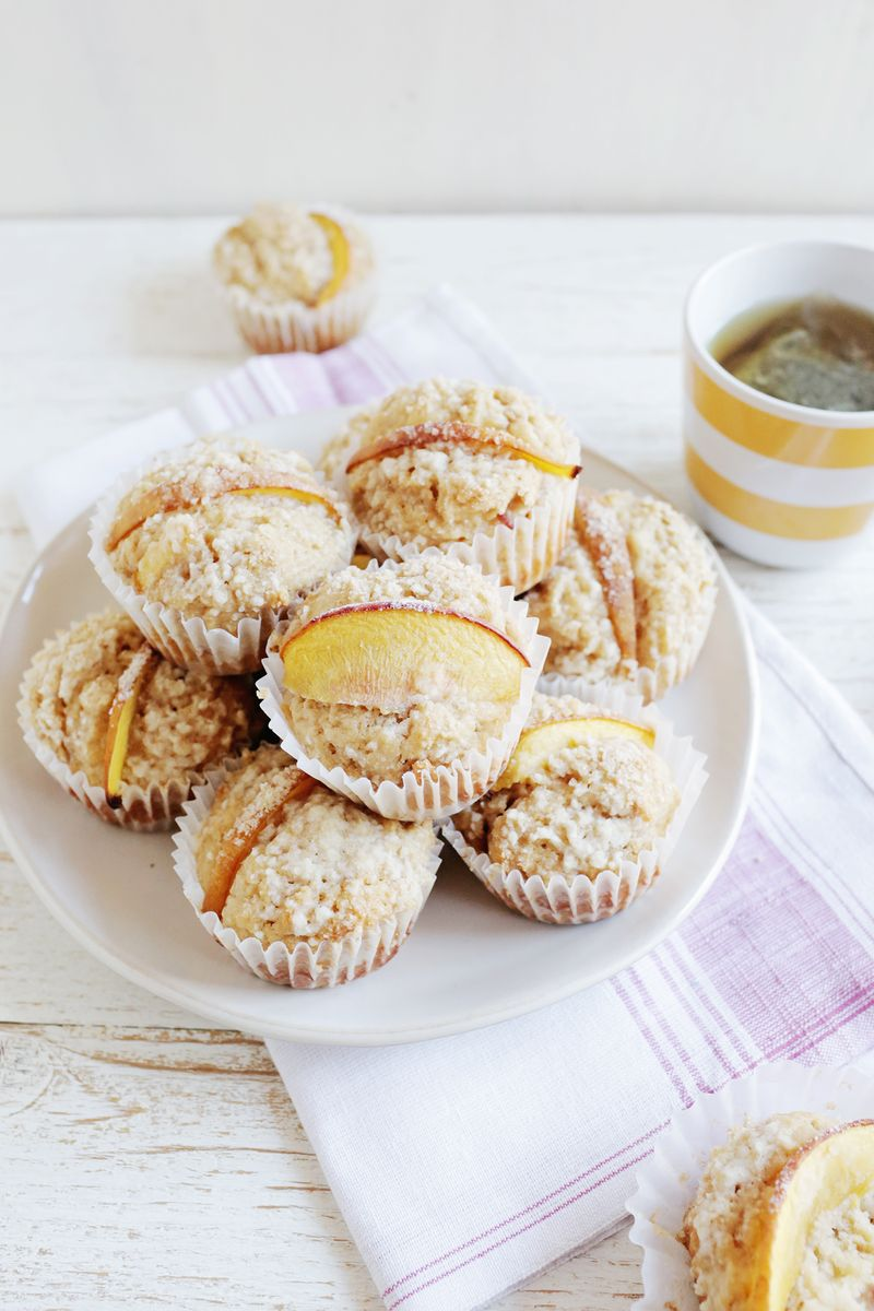 Peach and candied ginger muffins (via abeautifulmess.com)