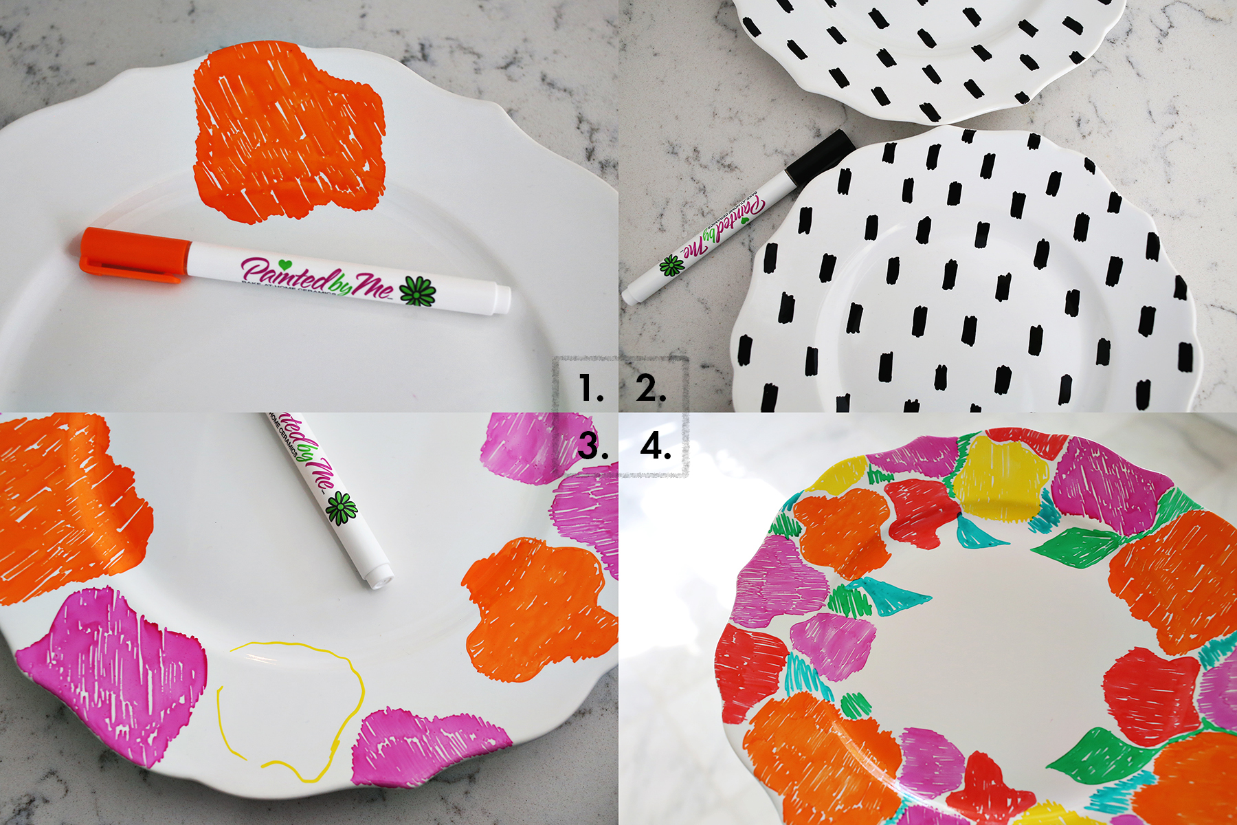 Hand painted dishes with foodsafe paint!  sc 1 st  A Beautiful Mess & Hand Painted Dish Set \u2013 A Beautiful Mess