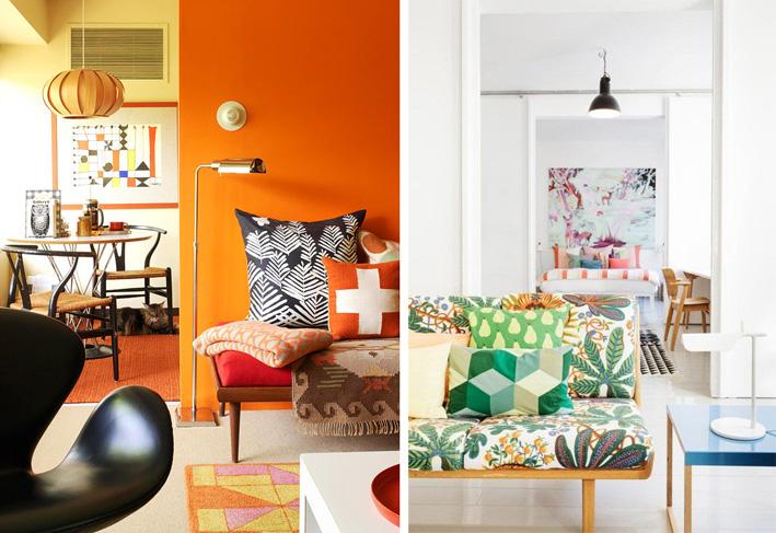 Happy Scandinavian living room interiors