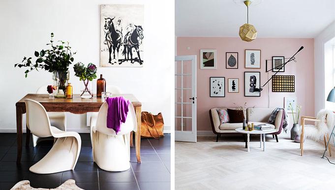 Feminine Scandinavian interior style