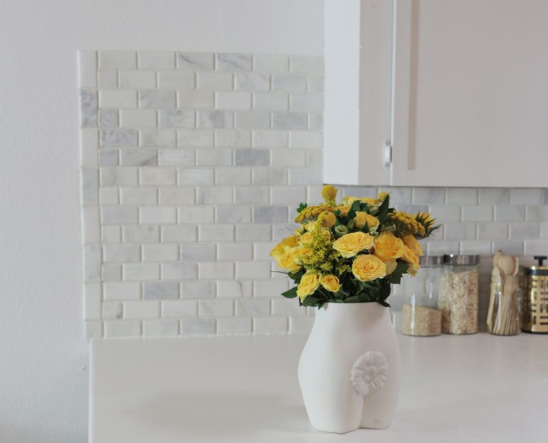 How To Tile A Kitchen Backsplash With Marble ...