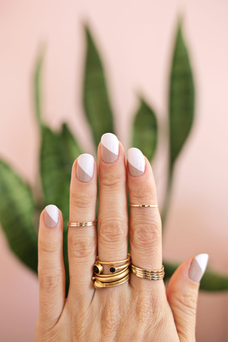 modern nude mani (3 ways!) – a beautiful mess